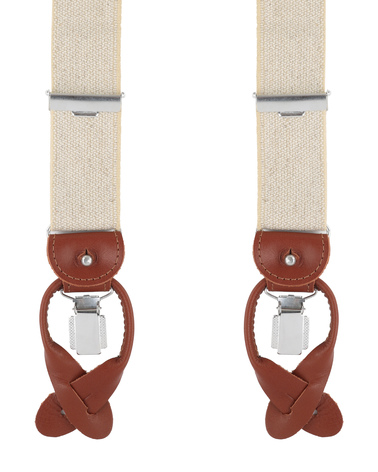 Profuomo Suspenders Beige photo 0