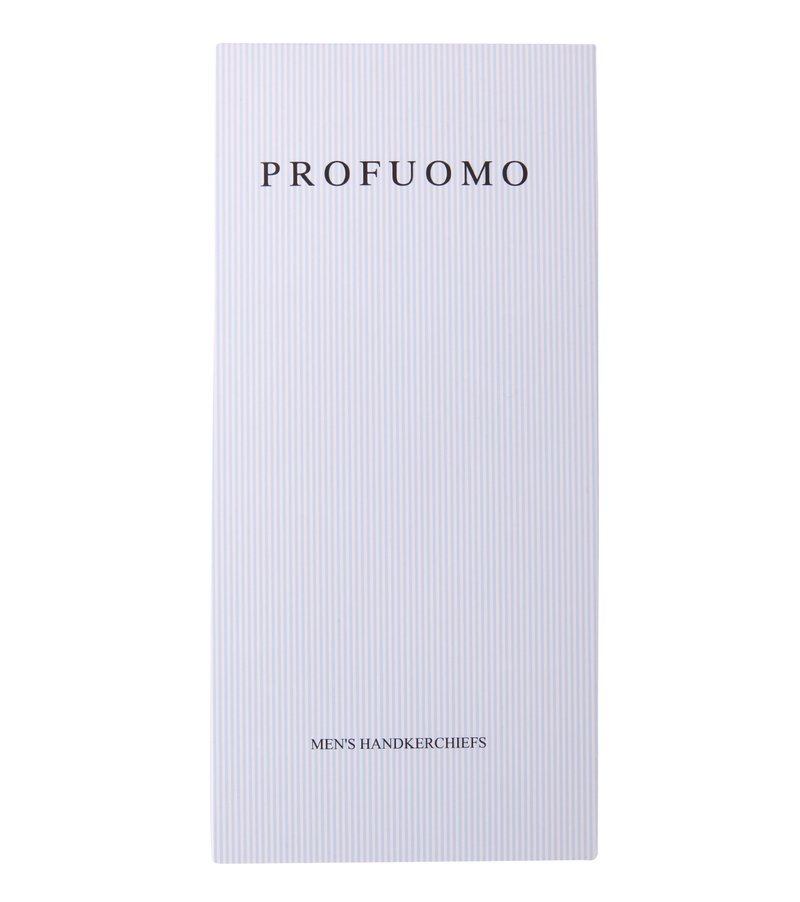 Profuomo Taschentücher Set 3 Stück Blau Weiß