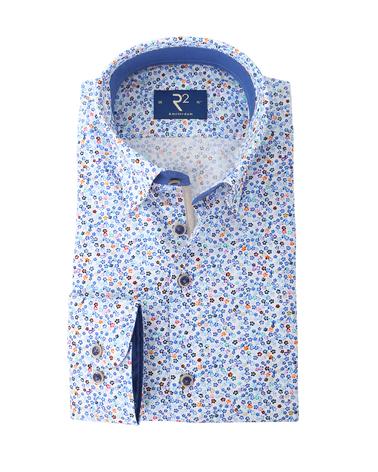 R2 Overhemd Blauw Bloemen Print   online bestellen | Suitable