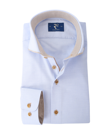 R2 Overhemd Blauw Cutaway  online bestellen | Suitable