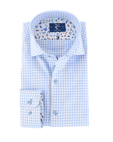 R2 Overhemd Blauw Ruit  online bestellen | Suitable