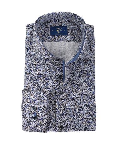 R2 Overhemd Blauwe Bladeren  online bestellen   Suitable