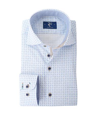 R2 Overhemd Blauwe Print  online bestellen   Suitable