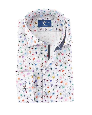 R2 Overhemd Bloemetjes Print  online bestellen | Suitable