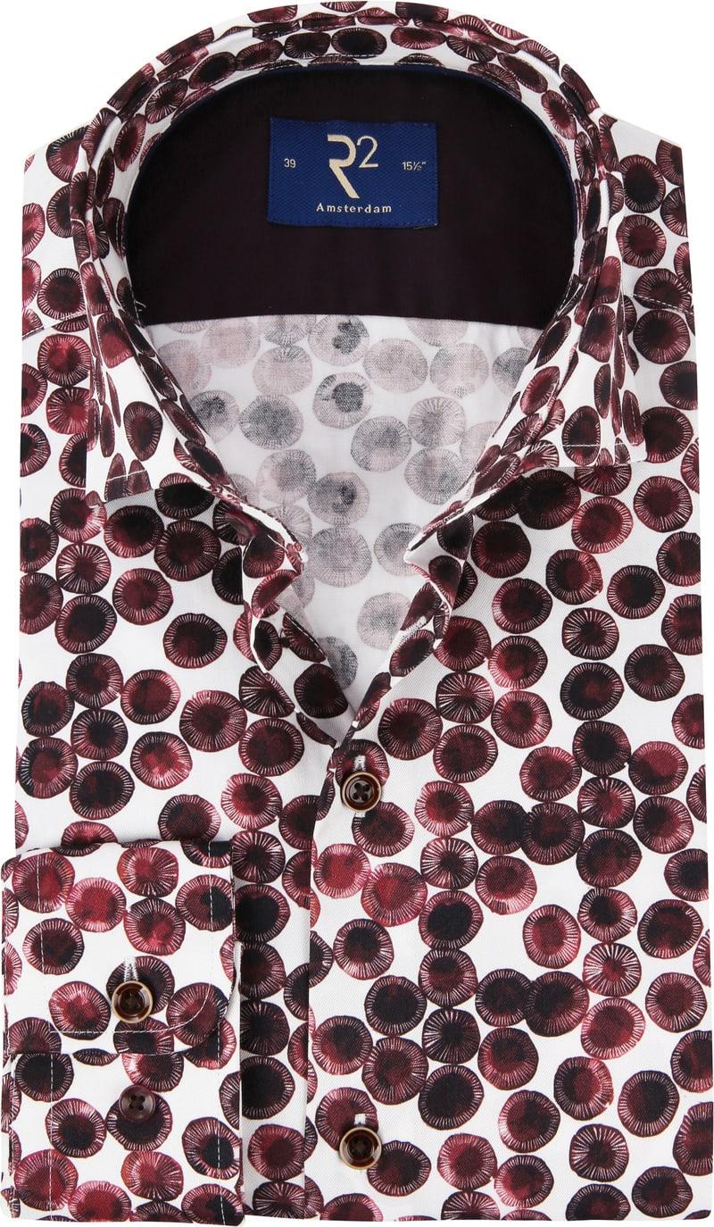 R2 Overhemd Cirkel Bordeaux foto 0