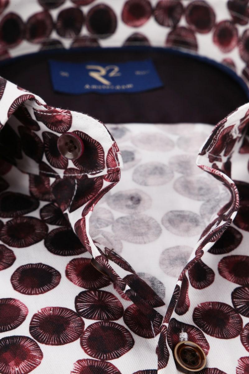 R2 Overhemd Cirkel Bordeaux foto 1