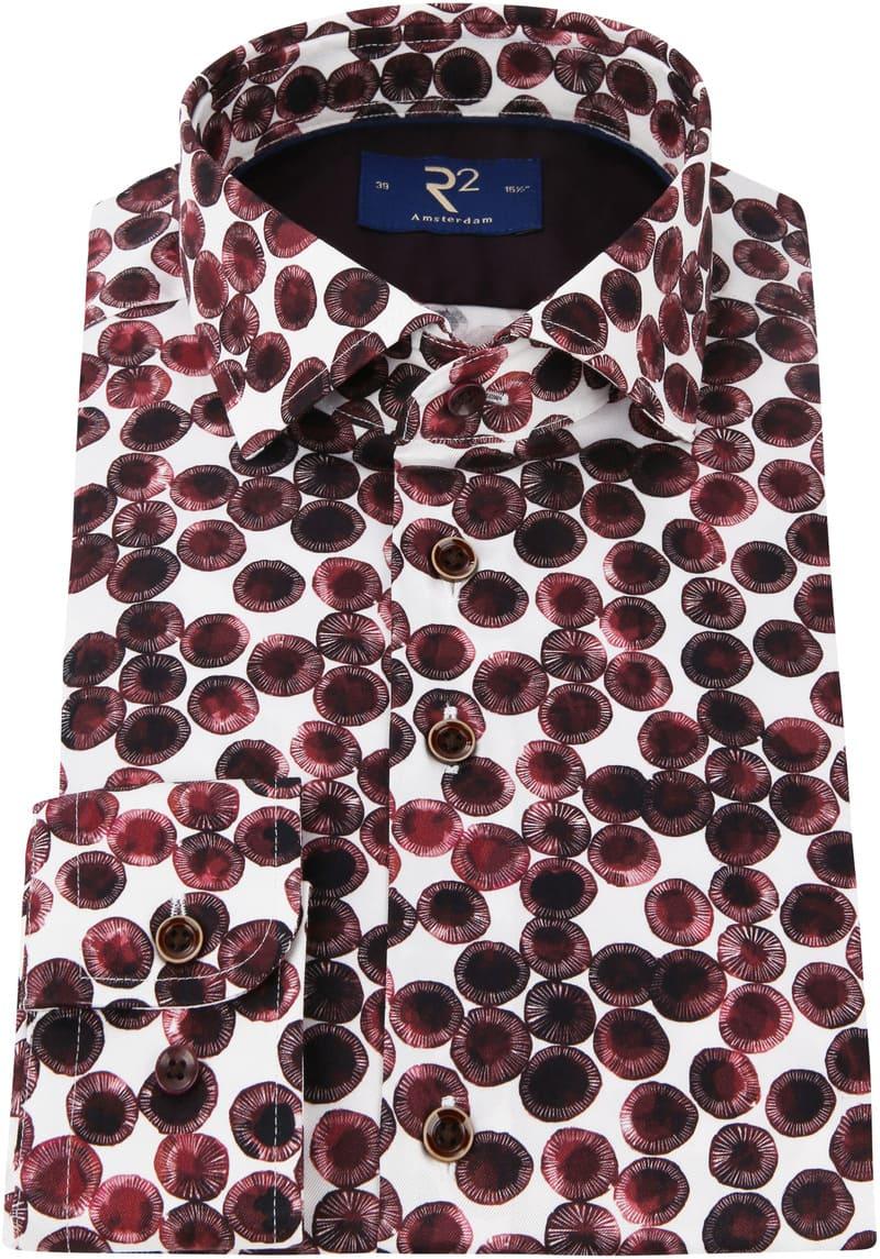 R2 Overhemd Cirkel Bordeaux foto 2