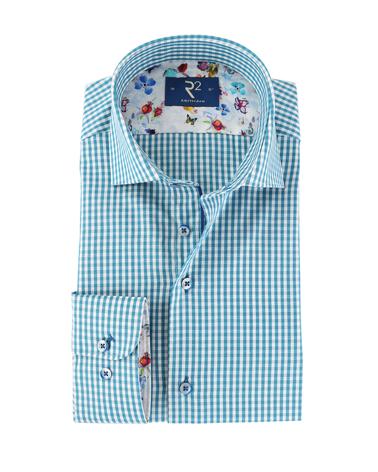 R2 Overhemd Groen Ruit  online bestellen | Suitable
