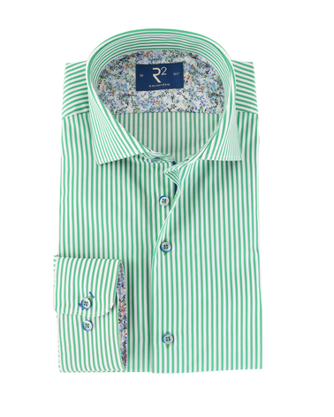R2 Overhemd Groene Streep  online bestellen | Suitable