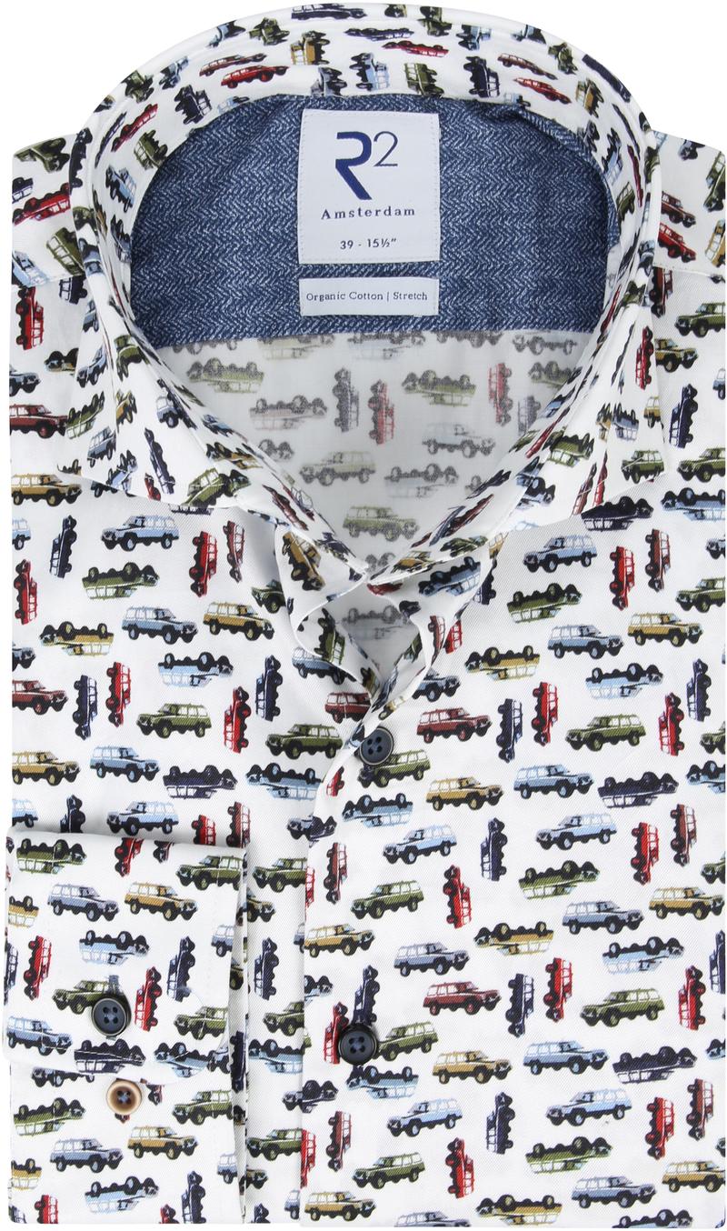 R2 Overhemd Jeep Print - Multicolour maat 40