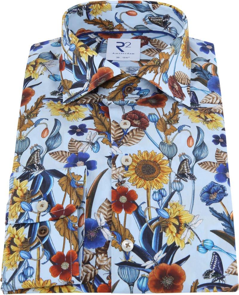 R2 Overhemd Kleurrijke Bloemen foto 2
