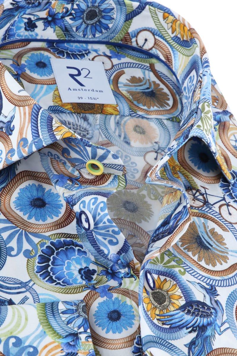 R2 Overhemd Multicolour Dessin foto 1