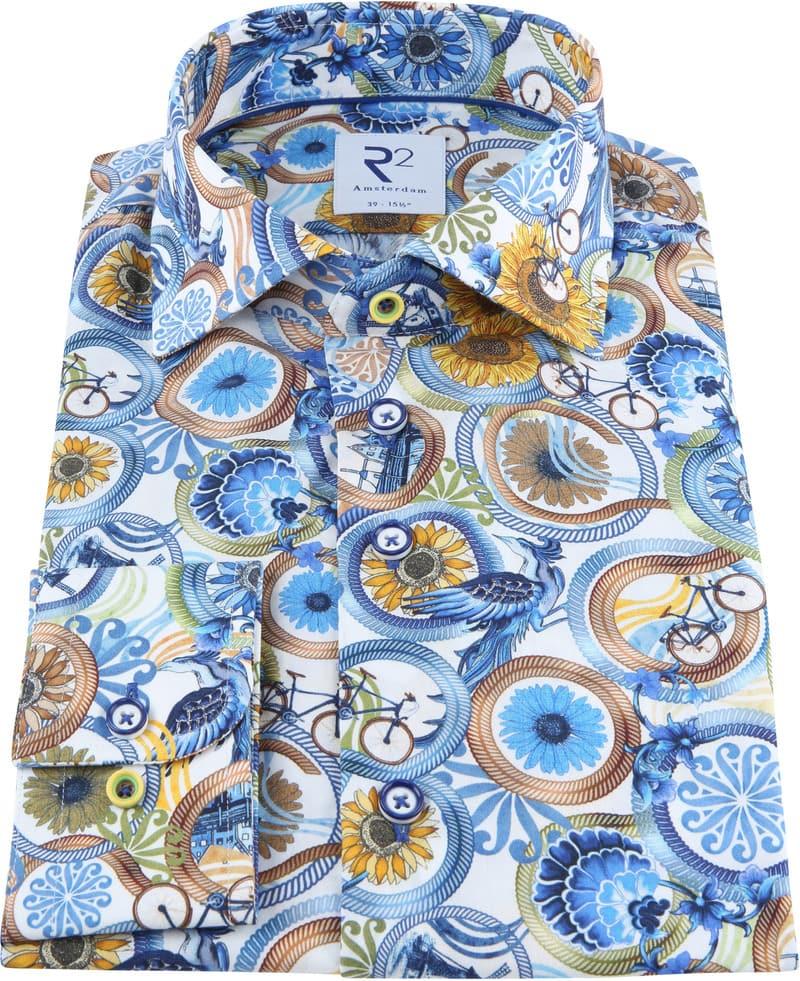 R2 Overhemd Multicolour Dessin foto 2