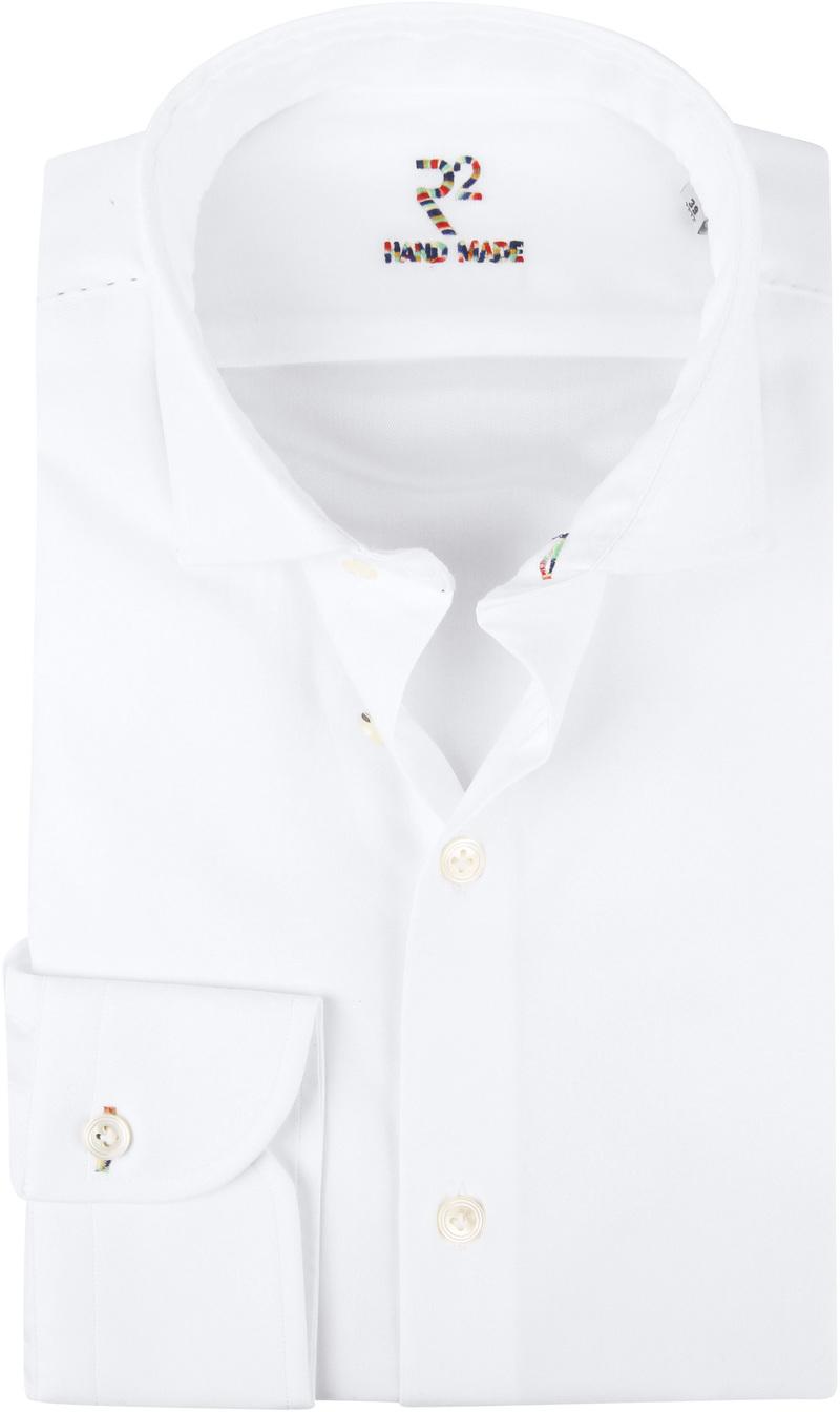 R2 Overhemd Uni Handgemaakt Wit  foto 0