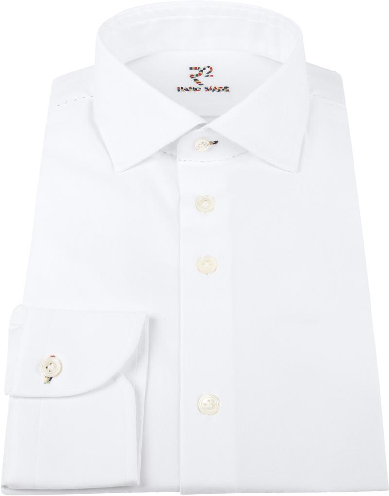R2 Overhemd Uni Handgemaakt Wit  foto 2