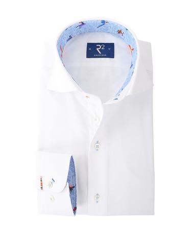 R2 Overhemd Wit + Vogels  online bestellen | Suitable