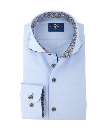 R2 Shirt Blauw Cutaway  online bestellen | Suitable