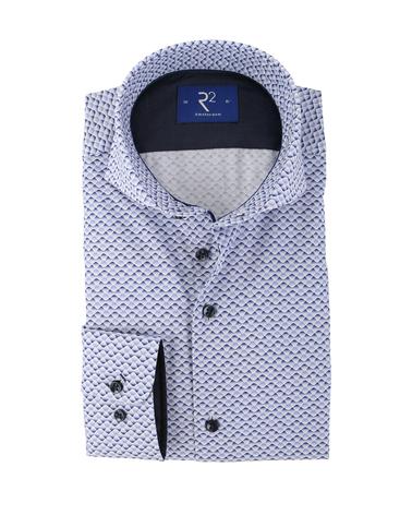 R2 Shirt Blauw Print Cutaway  online bestellen | Suitable