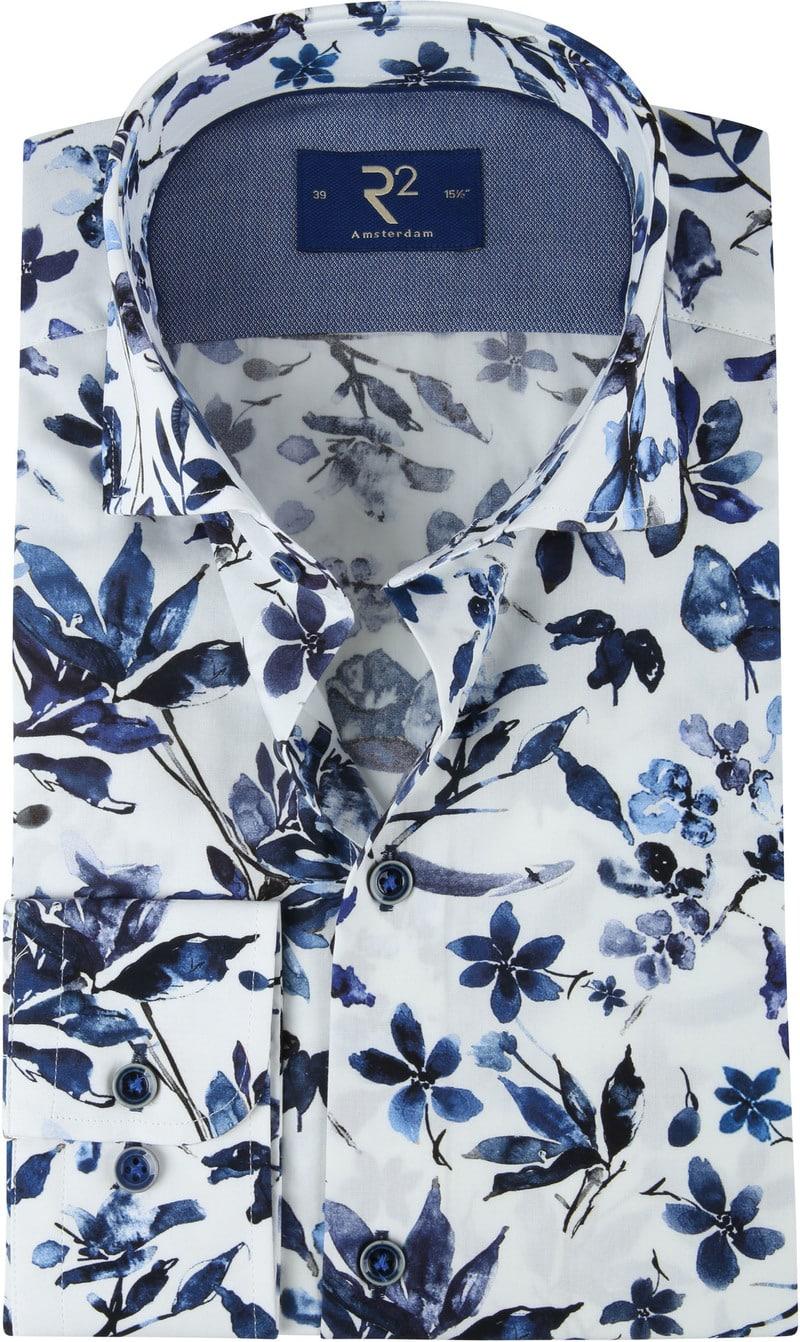 R2 Shirt Flowers WS Flowers Blue photo 0