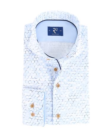 R2 Shirt Lichtblauw Print  online bestellen | Suitable