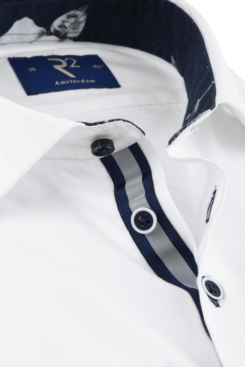 R2 Shirt Uni Navy Flower White photo 1