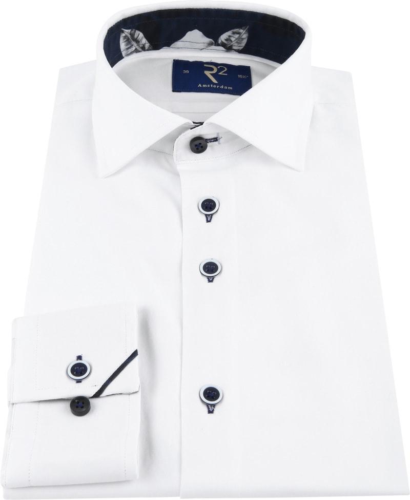 R2 Shirt Uni Navy Flower White photo 2