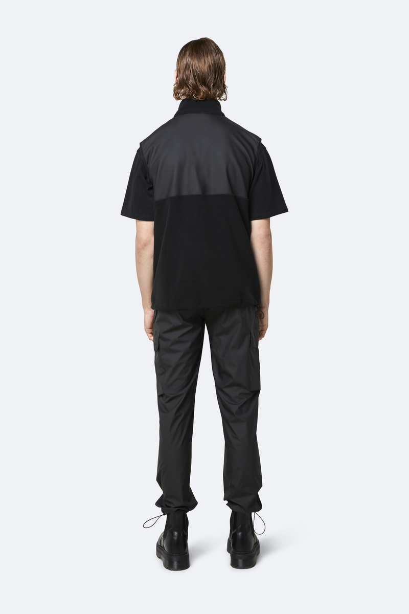 Rains Bodywarmer Fleece Zwart