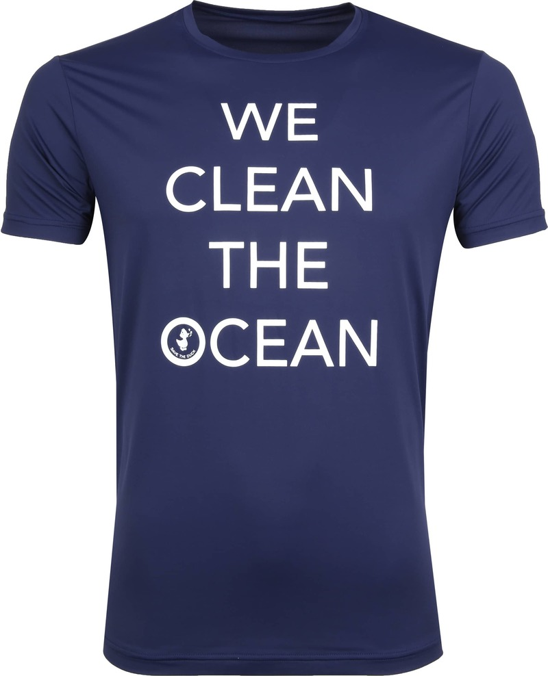 Save The Duck T-shirt Navy Stretch Text photo 0