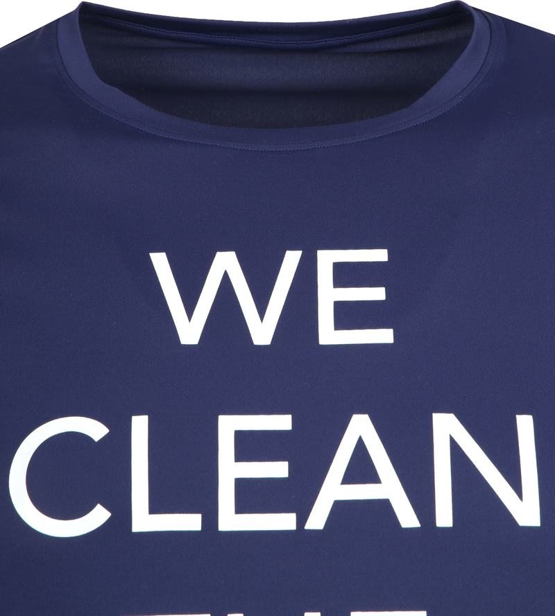 Save The Duck T-shirt Navy Stretch Text photo 1