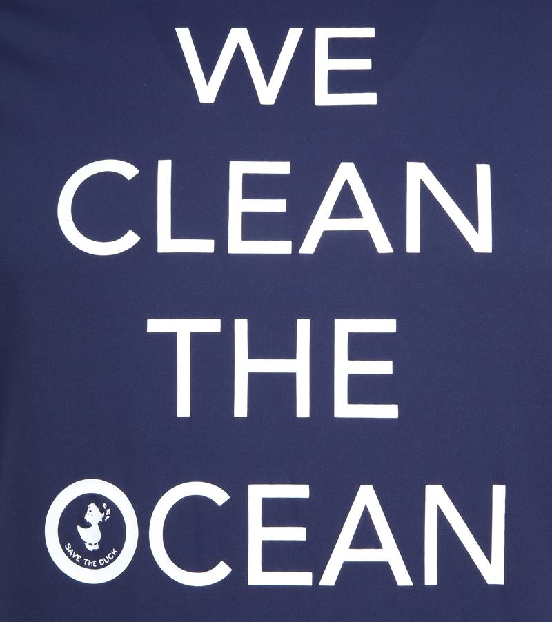 Save The Duck T-shirt Navy Stretch Text photo 2
