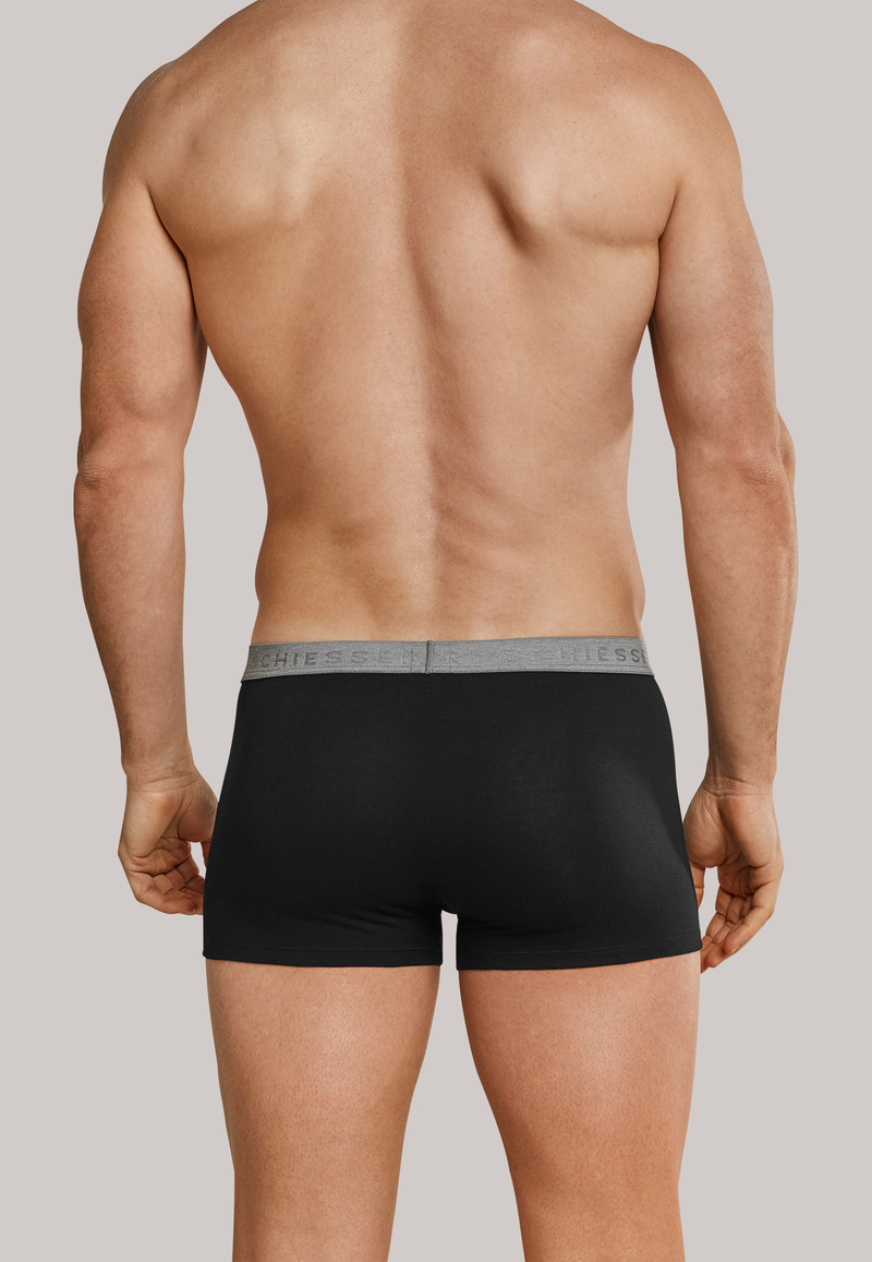 Schiesser Boxer Shorts Black + Grey 1-Pack