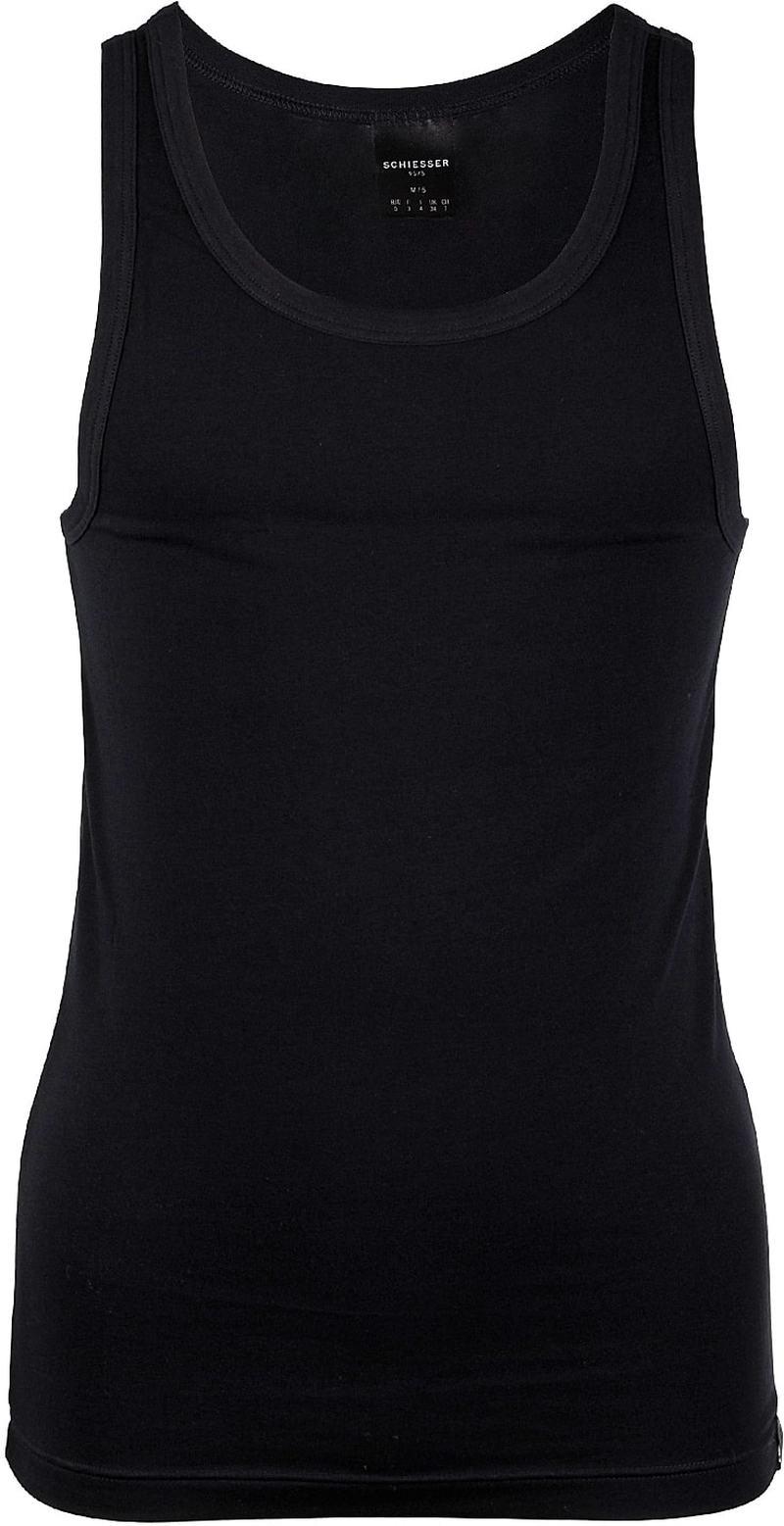 Schiesser Hemd Zwart foto 0