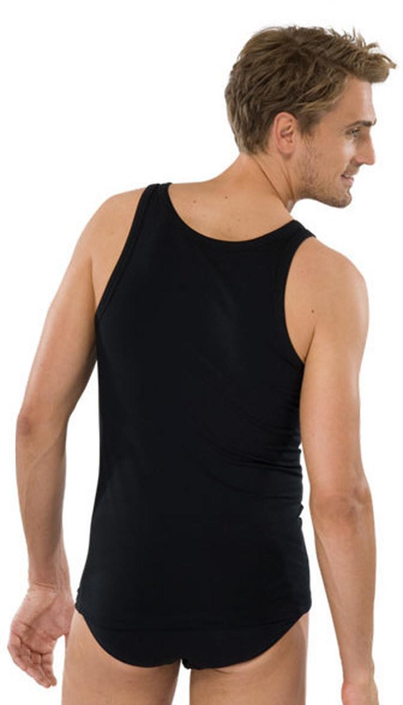 Schiesser Hemd Zwart foto 3