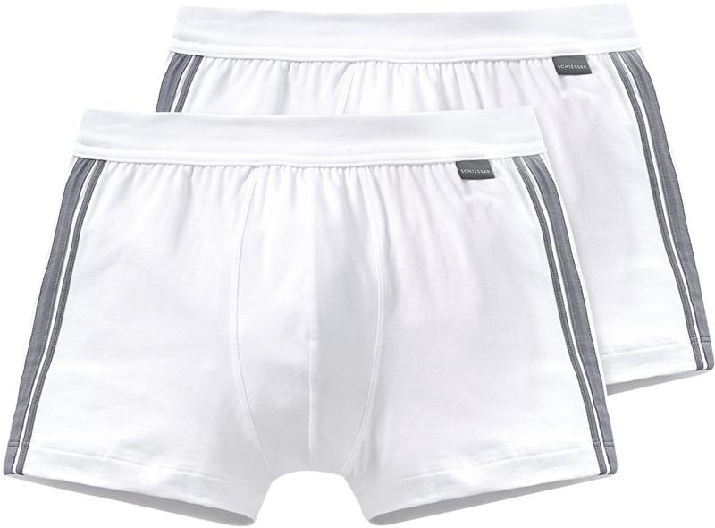 Schiesser Shorts White Stripe (2Pack)