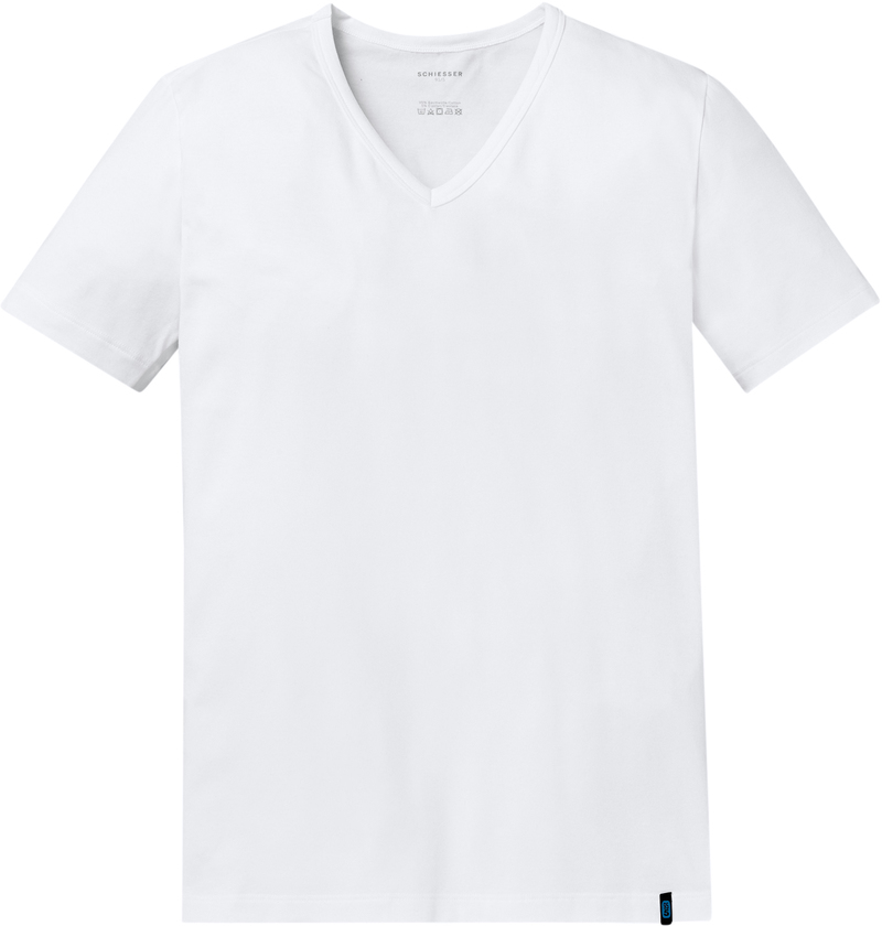 Schiesser T-shirt V-hals Wit