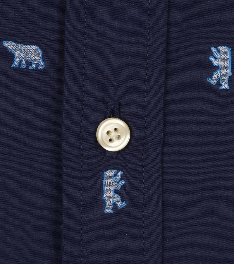 Scotch and Soda Overhemd Dessin Donkerblauw