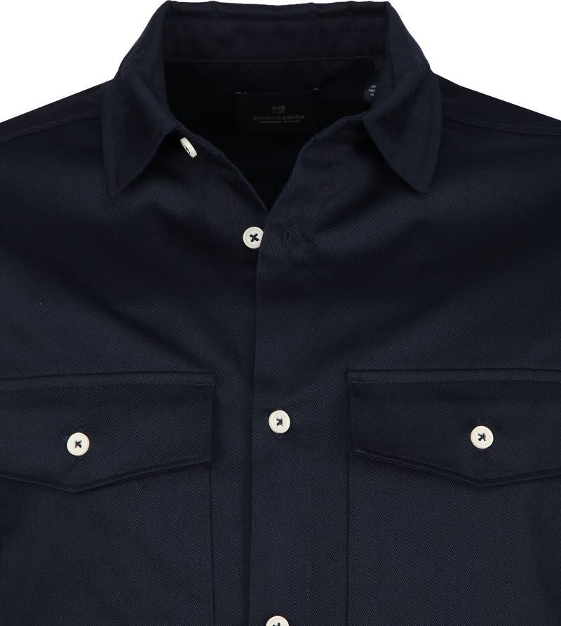 Scotch and Soda Overhemd Donkerblauw