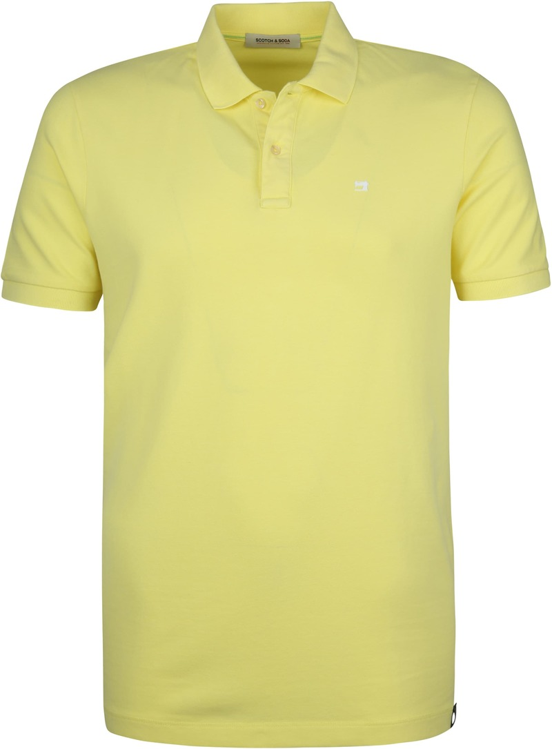 Scotch and Soda Polo Bamboo Geel foto 0