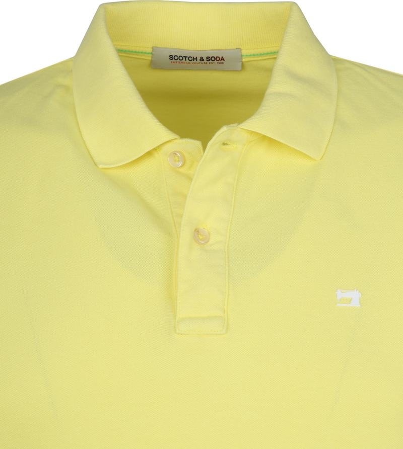 Scotch and Soda Polo Bamboo Geel foto 1