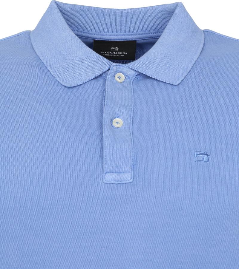 Scotch and Soda Polo Garment Dye Blauw