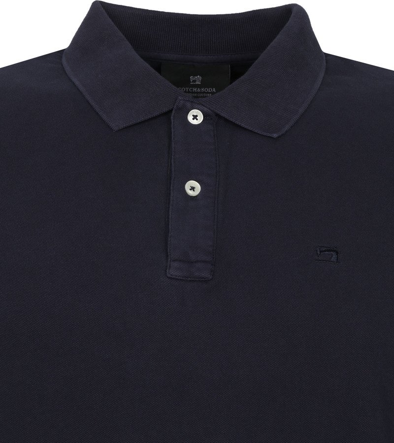 Scotch and Soda Polo Garment Dye Donkerblauw
