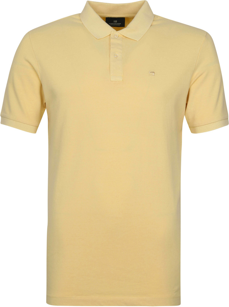 Scotch and Soda Polo Garment Dye Geel