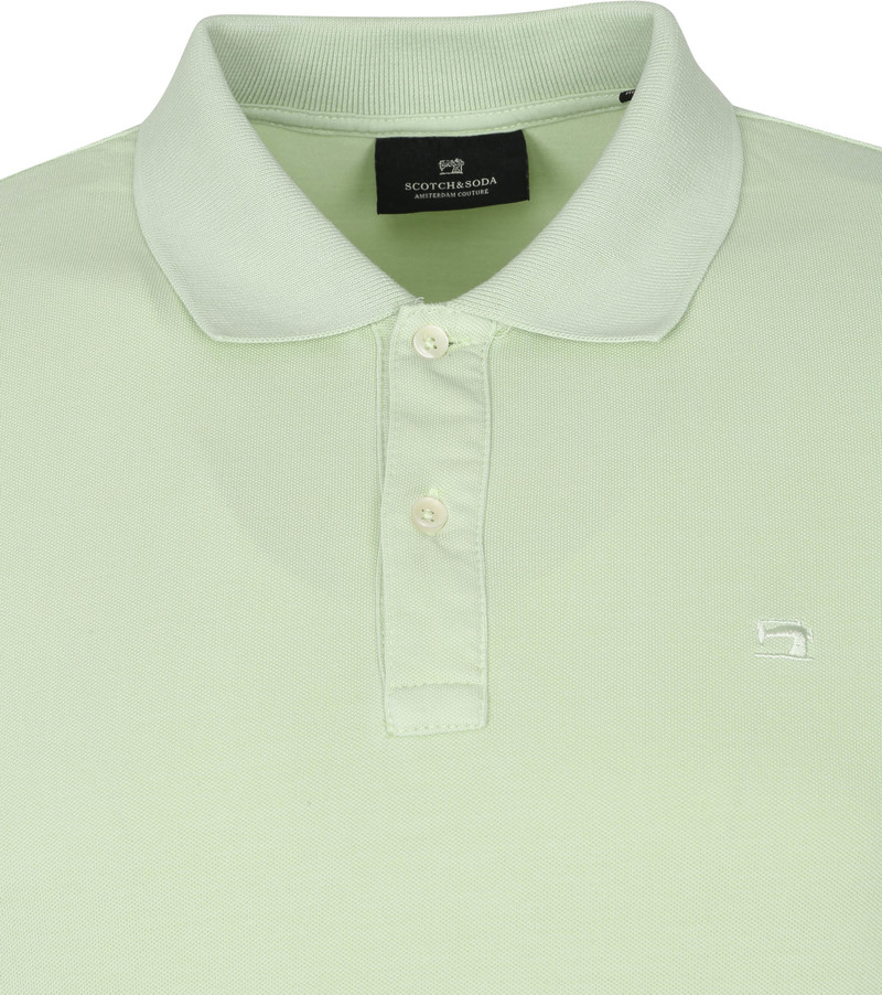 Scotch and Soda Polo Garment Dye Lichtgroen