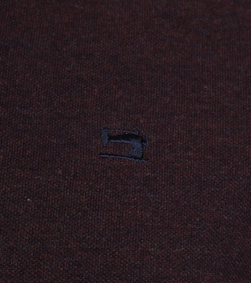 Scotch and Soda Polo Melange Bordeaux foto 2