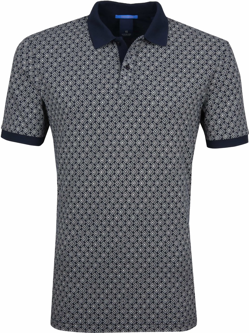 Scotch and Soda Polo Print Navy foto 0