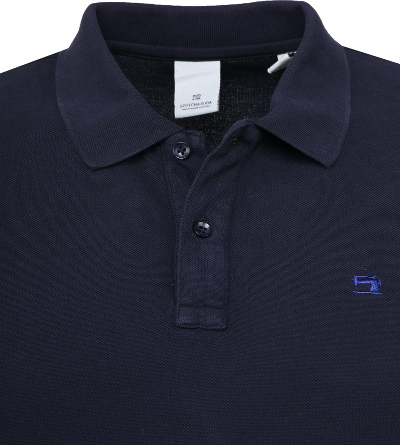 Scotch and Soda Poloshirt Dunkelblau Foto 1