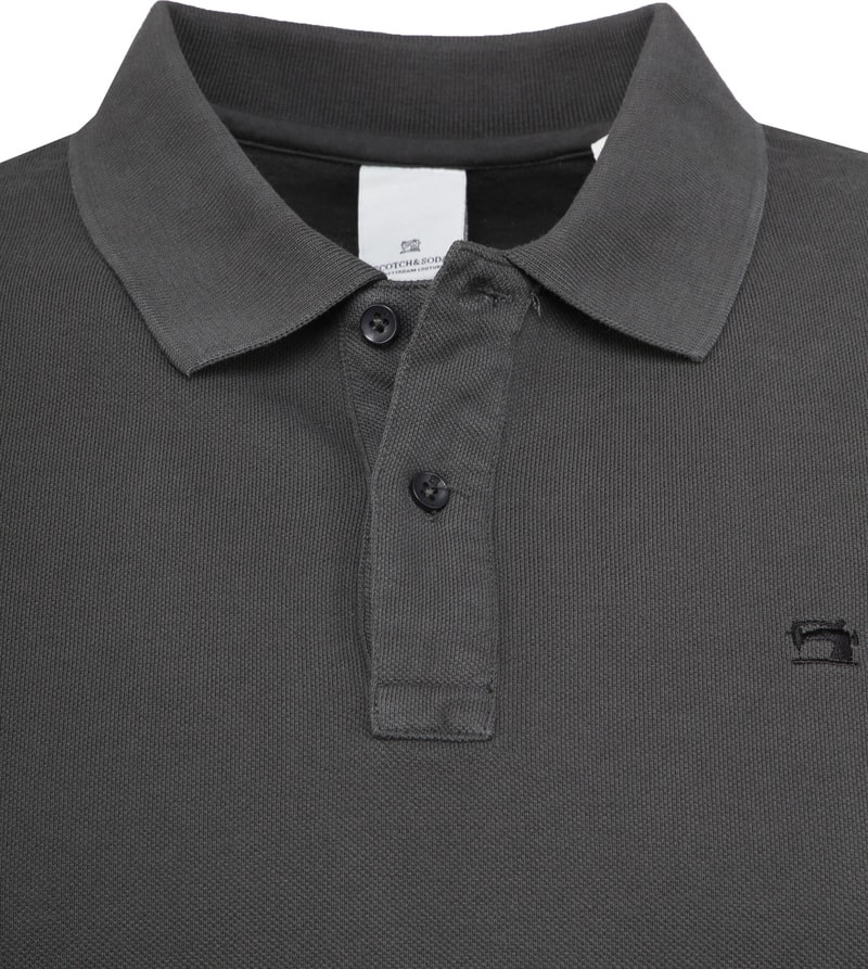Scotch and Soda Poloshirt Dunkelgrau Foto 1