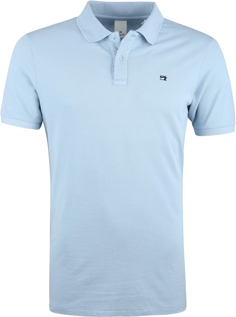 Scotch and Soda Poloshirt Hellblauw Foto 0