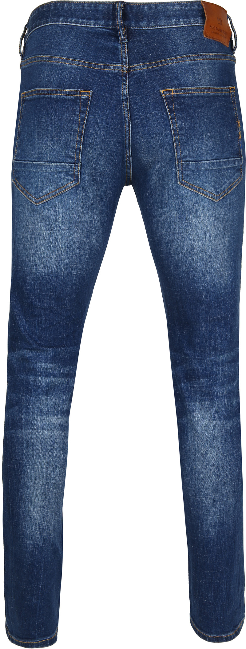 Scotch and Soda Skim Jeans Blauw