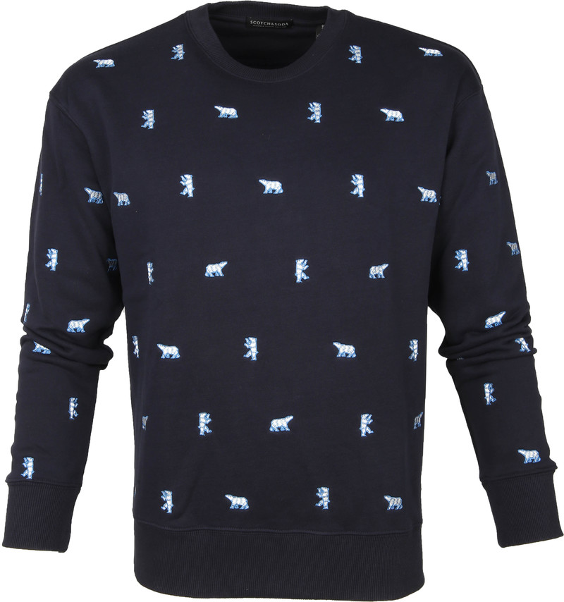 Scotch and Soda Sweater IJsbeer Donkerblauw